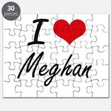 I Love Meghan artistic design Puzzle