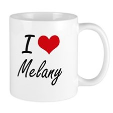 I Love Melany artistic design Mugs