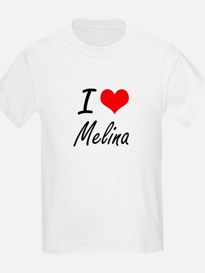 I Love Melina artistic design T-Shirt