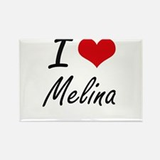 I Love Melina artistic design Magnets