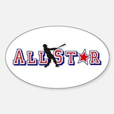 All St*r Baseball Oval Decal