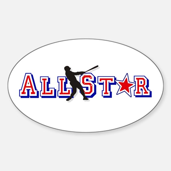 Baseball All Star Sticker (Oval)