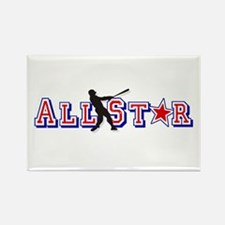 All St*r Baseball Rectangle Magnet