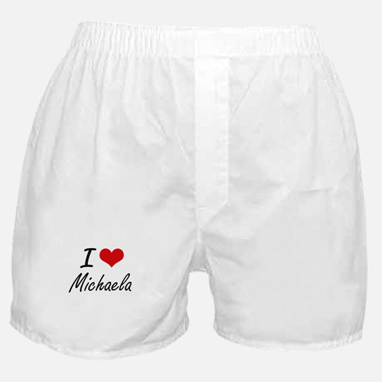 I Love Michaela artistic design Boxer Shorts