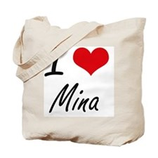 I Love Mina artistic design Tote Bag
