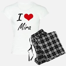 I Love Mira artistic design Pajamas