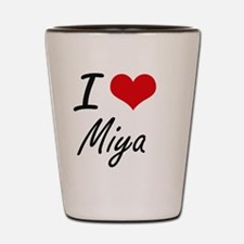 I Love Miya artistic design Shot Glass