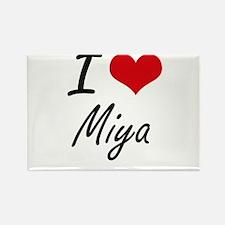 I Love Miya artistic design Magnets