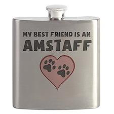 My Best Friend Is An AmStaff Flask
