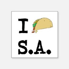 "Funny San antonio Square Sticker 3"" x 3"""