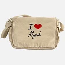 I Love Myah artistic design Messenger Bag