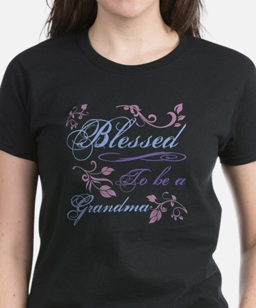 Blessed To Be A Grandma Women's Dark T-Shirt