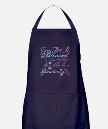 Blessed To Be A Grandma Apron (dark)