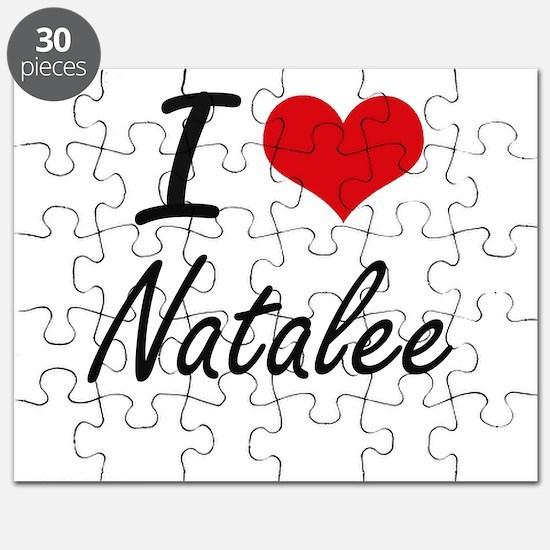 I Love Natalee artistic design Puzzle