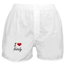 I Love Nataly artistic design Boxer Shorts