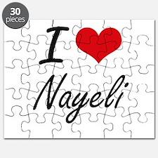 I Love Nayeli artistic design Puzzle