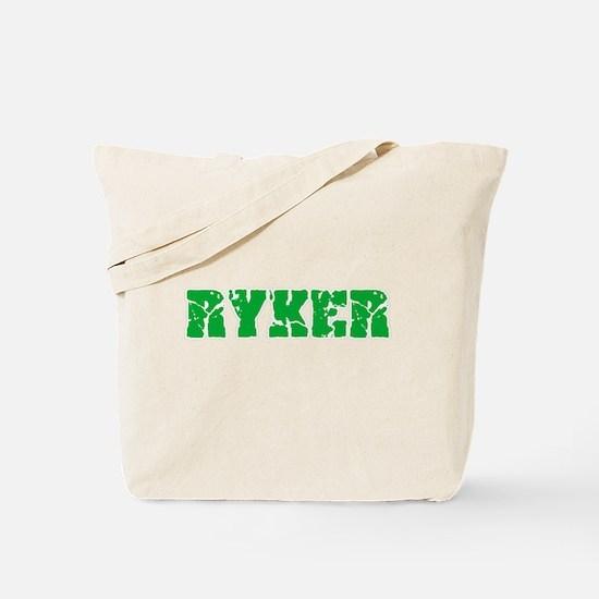 Ryker Name Weathered Green Design Tote Bag