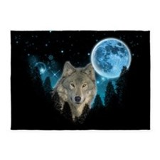 Wolf StarLight 5'x7'Area Rug