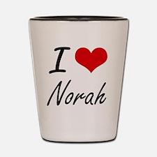 I Love Norah artistic design Shot Glass
