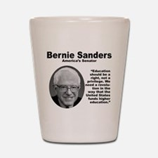 Sanders: Education Shot Glass