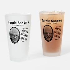 Sanders: Education Drinking Glass