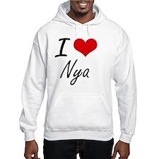 I Love Nya artistic design Hoodie Sweatshirt