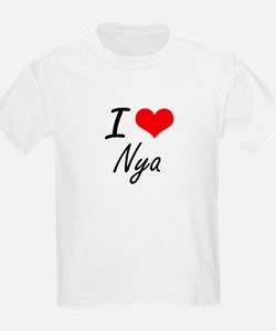 I Love Nya artistic design T-Shirt