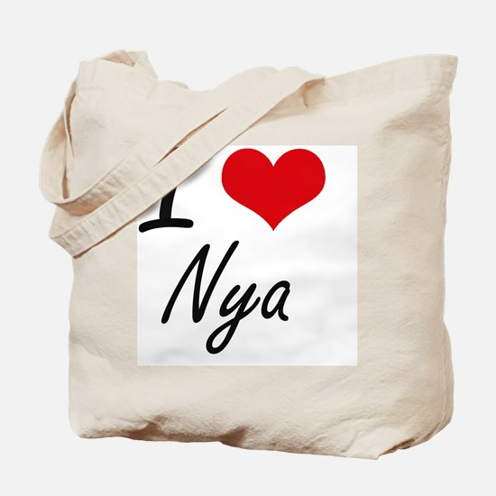 I Love Nya artistic design Tote Bag