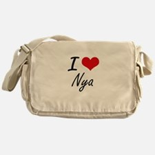I Love Nya artistic design Messenger Bag