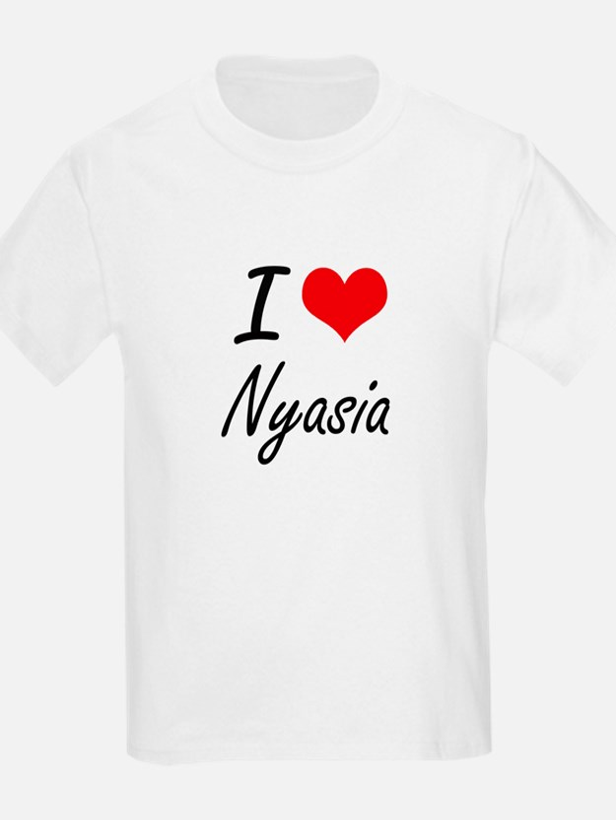 I Love Nyasia artistic design T-Shirt