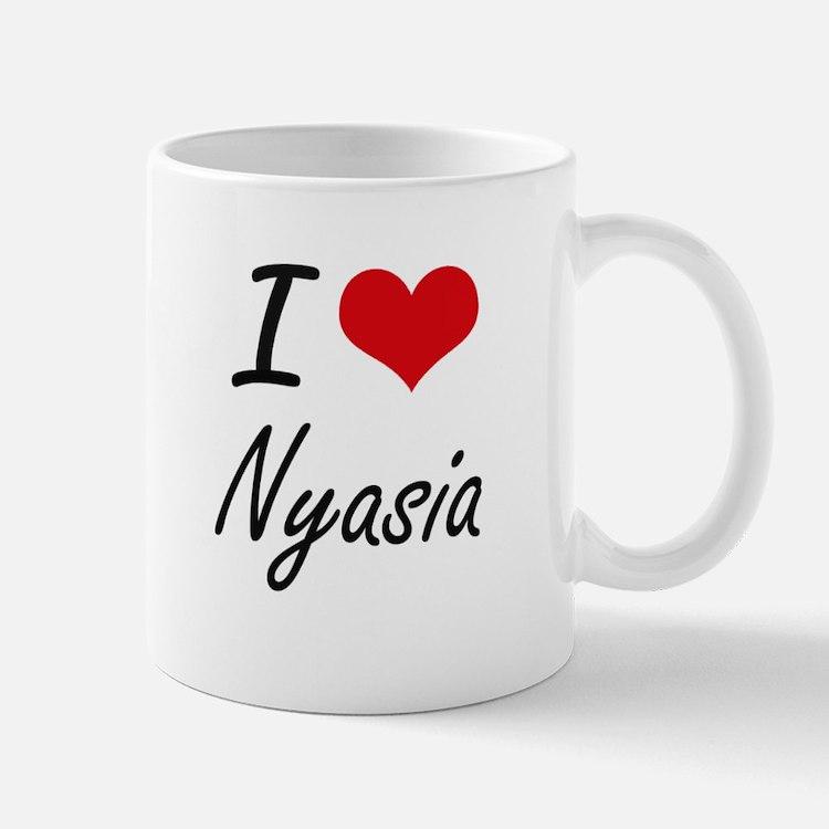 I Love Nyasia artistic design Mugs