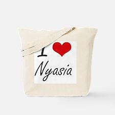 I Love Nyasia artistic design Tote Bag
