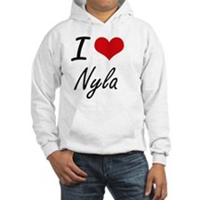 I Love Nyla artistic design Hoodie Sweatshirt