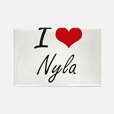 I Love Nyla artistic design Magnets