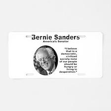 Sanders: Civilized Aluminum License Plate