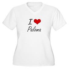 I Love Paloma artistic design Plus Size T-Shirt