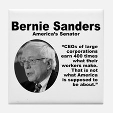Sanders: CEOs Tile Coaster