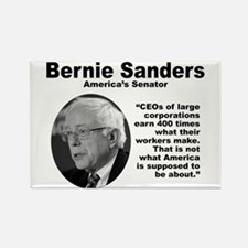 Sanders: CEOs Rectangle Magnet