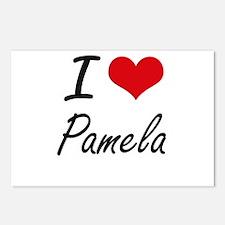I Love Pamela artistic de Postcards (Package of 8)