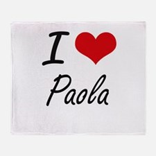 I Love Paola artistic design Throw Blanket