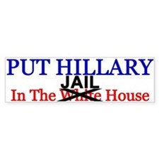 Hillary Jail House Bumper Bumper Sticker