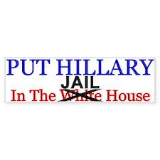 Hillary Jail House Bumper Car Sticker