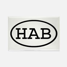 HAB Oval Rectangle Magnet