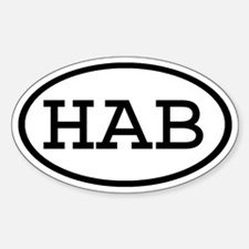 HAB Oval Oval Decal
