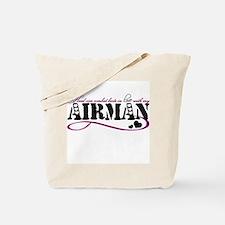Head over combat boots: Airman Tote Bag