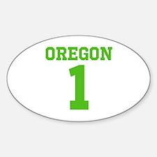 OREGON #1 Sticker (Oval)