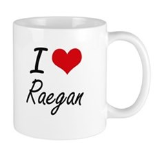 I Love Raegan artistic design Mugs