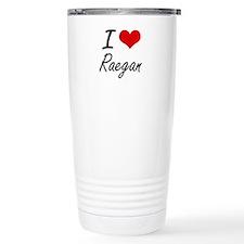 I Love Raegan artistic Travel Mug