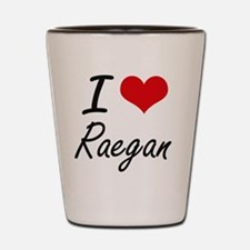 I Love Raegan artistic design Shot Glass