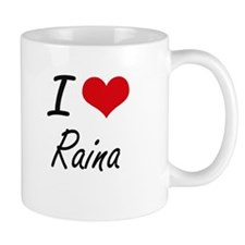 I Love Raina artistic design Mugs